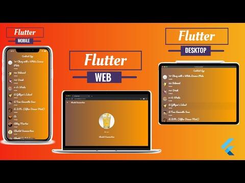 Flutter For Web, Desktop Released | Getting Started Cocktail App