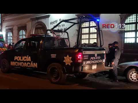 VIDEO Campesino es baleado cuando ingresaba a centro nocturno de Jacona