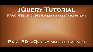 jQuery mouse events