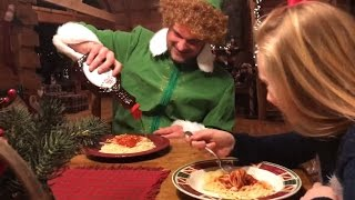 Buddy the Elf moves in with Princess Ella / new Christmas skit