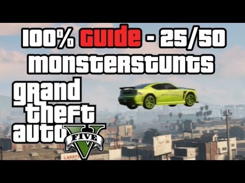 GTA 5 100% Guide - Alle Monsterstunts 25/50 - GTA V Grand Theft Auto German Tipps & Tricks Tutorial