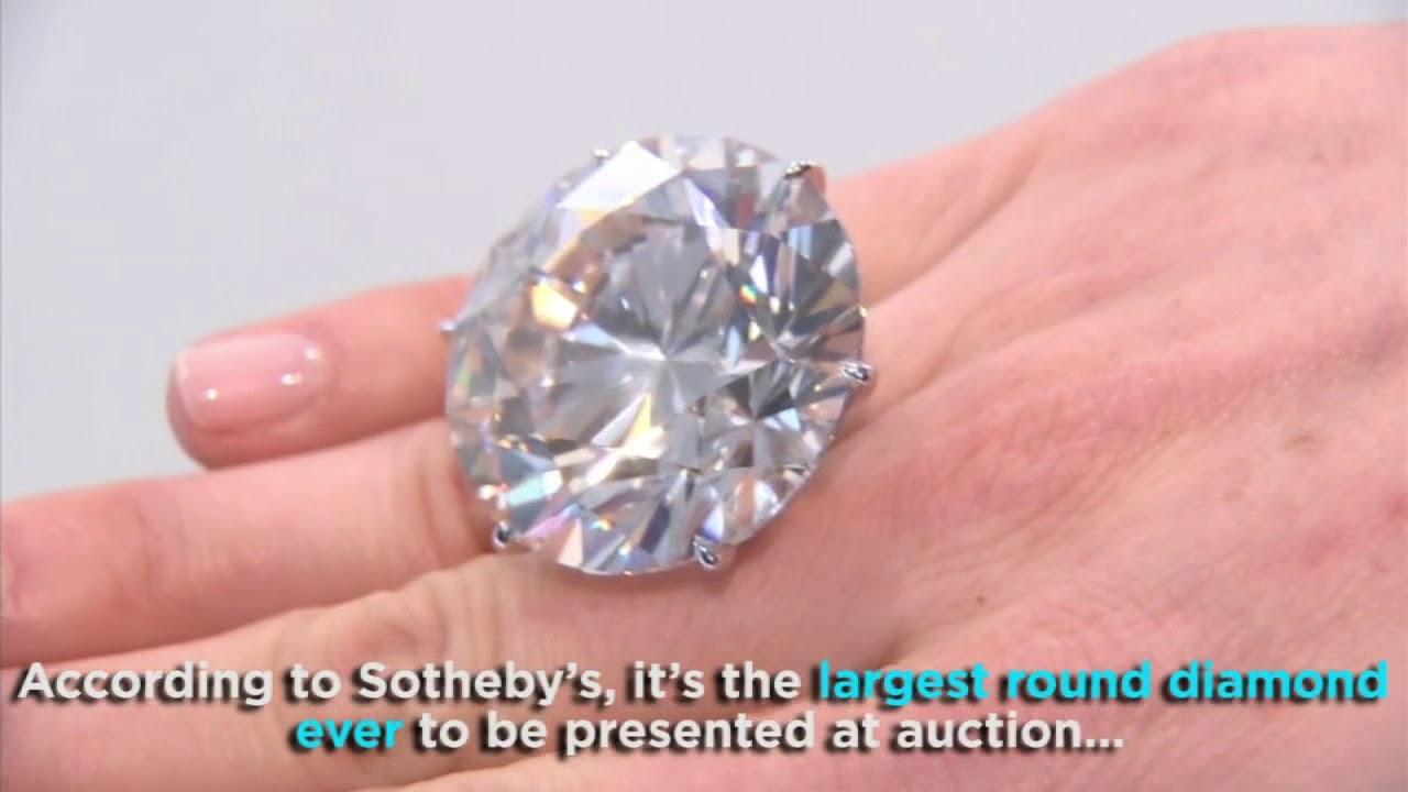 Massive 110-carat diamond on display in Los Angeles   ABC7 - YouTube