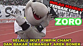 Aksi Semangat Zoro Pimpin Chant Bonek | Maskot Terbaik Liga 1
