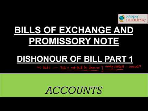 Bill retained till maturity - Bills of exchange and promissory note - Dishonour of bill (part - 1)