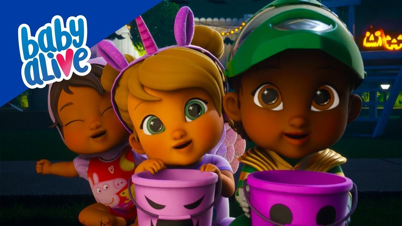 👶🏼 Baby Alive 👶🏾 Babies Learn Trick or Treat! 👶🏻 Kids Videos and Baby Cartoons 💕