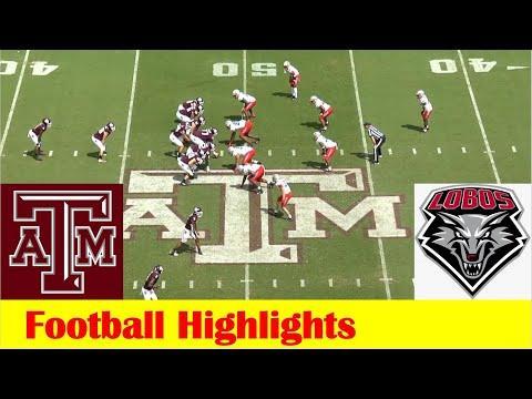 New Mexico vs #7 Texas A&M Football Game Highlights 9 18 2021
