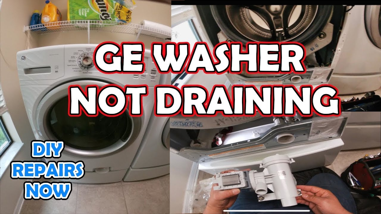 How to Fix GE Washer Not Draining or Spinning | Model GFWH1200H0WW | Drain  Pump Replacement