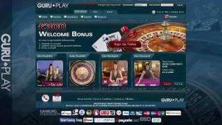 Details of the gururevenue affiliate program, showcasing guruplay live casino, online casino & poker. 60% revshare until end 2010.