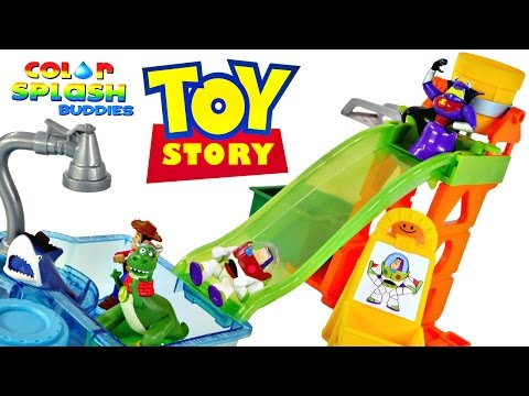 Toy Story Slide 'N' Surprise Playground 4 Color Changing Splash Buddies Disney Pixar Cars Spongebob