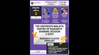The Universiti Malaya Centre of Research Sharing Session Series 1 2021 screenshot 3
