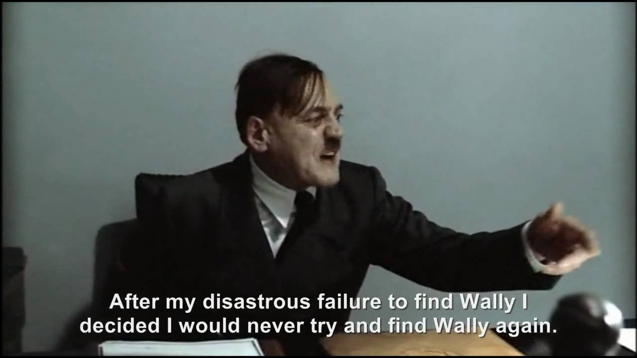 Hitler is informed Wally/Waldo has been spotted in the Bunker