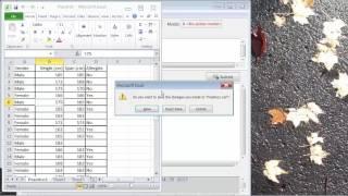 R-Commander - Erstellen und Importieren von CSV-Datei