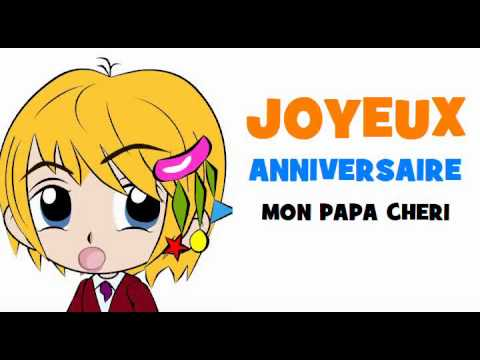 joyeux anniversaire mon papa cheri youtube. Black Bedroom Furniture Sets. Home Design Ideas