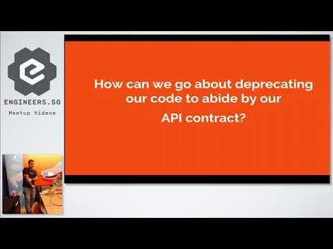 Deprecating APIs - Singapore PHP User Group