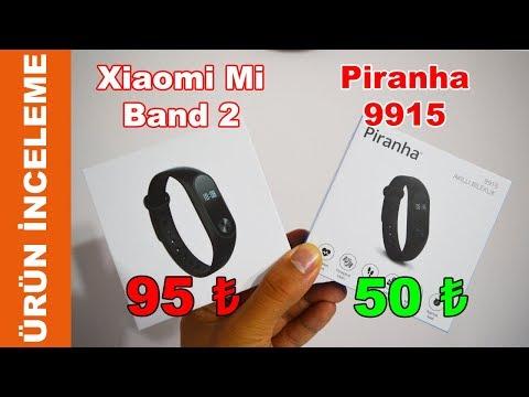 50 TL Piranha 9915 & 95 TL Xiaomi Mi Band 2 Akıllı Bileklik ürün Inceleme Ve Karşılaştırma