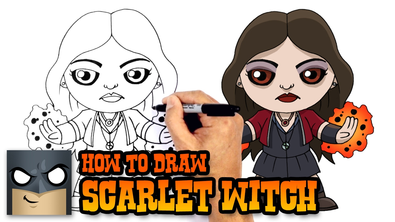 How To Draw Scarlet Witch The Avengers Youtube