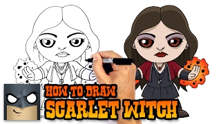 How to Draw Scarlet Witch | The Avengers