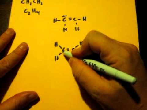 Lewis Dot Structure of CH2CH2 (Ethene) - YouTube H2cch2 Lewis Structure