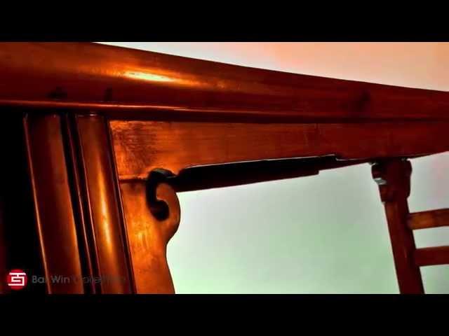 Qing Dynasty Elm wood splayed bench