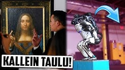Leonardo da Vincin Maalaus Myydään 450 MILJOONALLA? Uusi Robotti Hyppää Voltin!