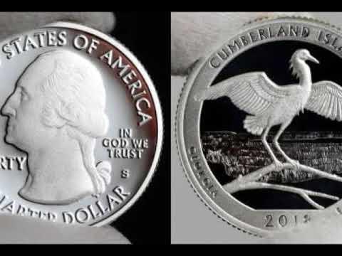 Moneda de 25 Centavos Cumberland Island National 2018