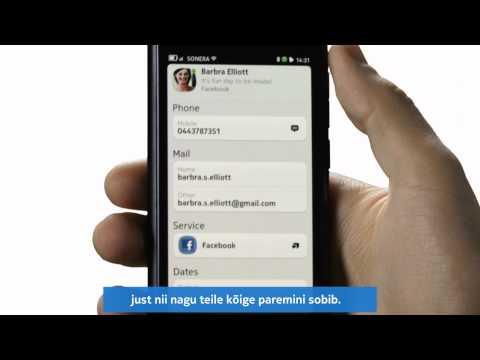 Nokia N9 -- Nutikad kontaktid