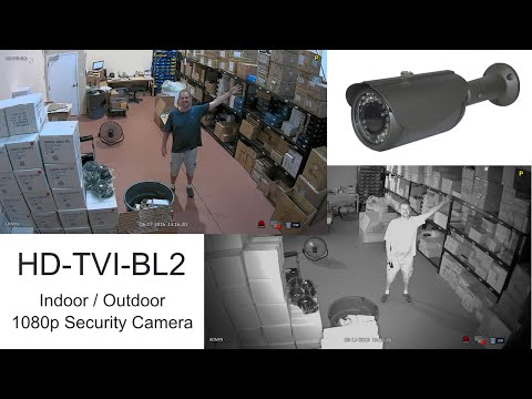 1080p HD TVI Surveillance Camera Day and Night Infrared Video