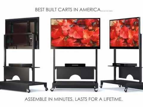 Boltz Mobile Flat Panel Tv Cart Youtube
