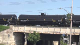 3 Union Pacific Engines Pull  Oil Tanker Train