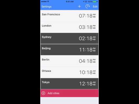 The World Clock by timeanddate.com - iOS app
