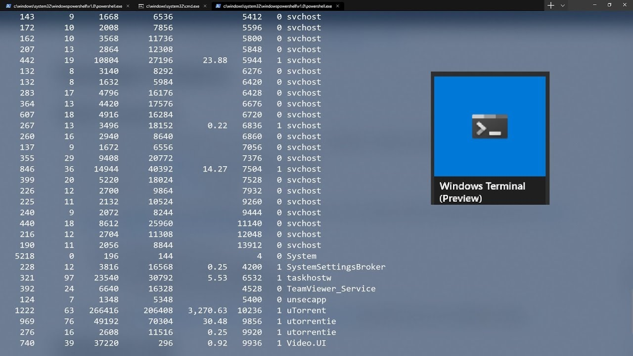 New Windows Terminal Preview Released