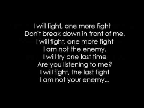 Bullet For My Valentine   The Last Fight (Acoustic) Lyrics