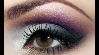 HOW TO_ SOFT SMOKEY PURPLE GREY EYESHADOW (ROMANTIC) TUTORIAL