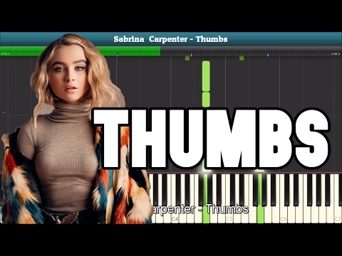 Thumbs Piano Tutorial - Free Sheet Music (Sabrina Carpenter)