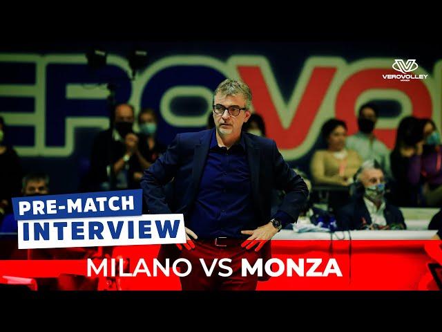 Massimo Eccheli pre Milano vs Vero Volley Monza | 2a giornata SuperLega