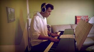 Gambar cover Dan + Shay, Justin Bieber - 10,000 Hours - Piano Cover - Slower Ballad Cover