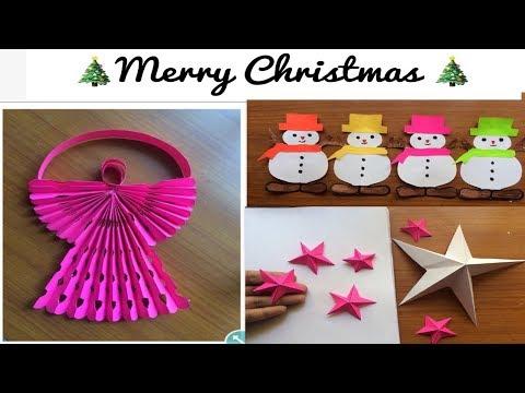 Christmas decoration ideas  2018/Christmas ornaments star angel & snowman paper garland