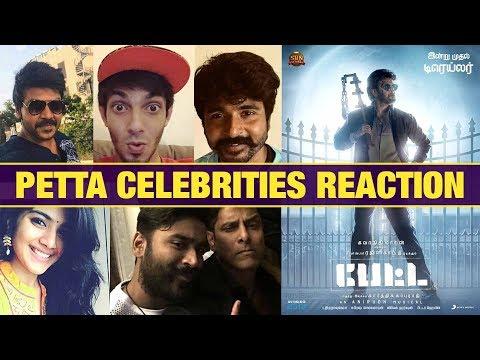 PETTA TRAILER CELEBRITIES REACTION   Thalaivar Rajinikanth   Karthik Subbaraj   Petta Trailer Review