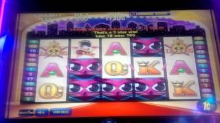 All STARS (Aristocrat), sticky wild, slot machine max bet BIG WIN.