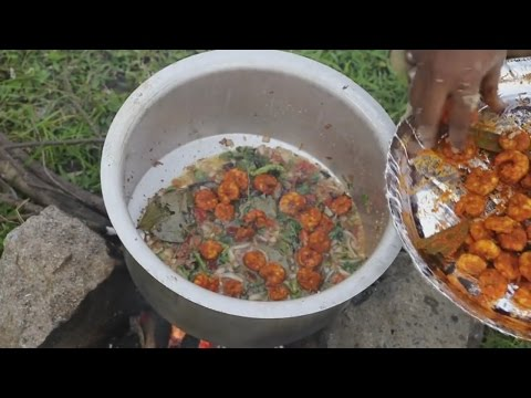 Prawns Biryani - Village Prawns Recipe - Shrimp Biryani - Country Food