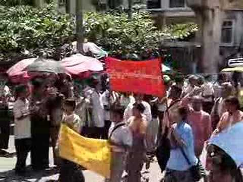 25 Sept Monks & People General Strike in Burma