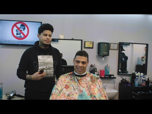 Ryan Reaves talks about hockey in the black community with local barber shop patrons