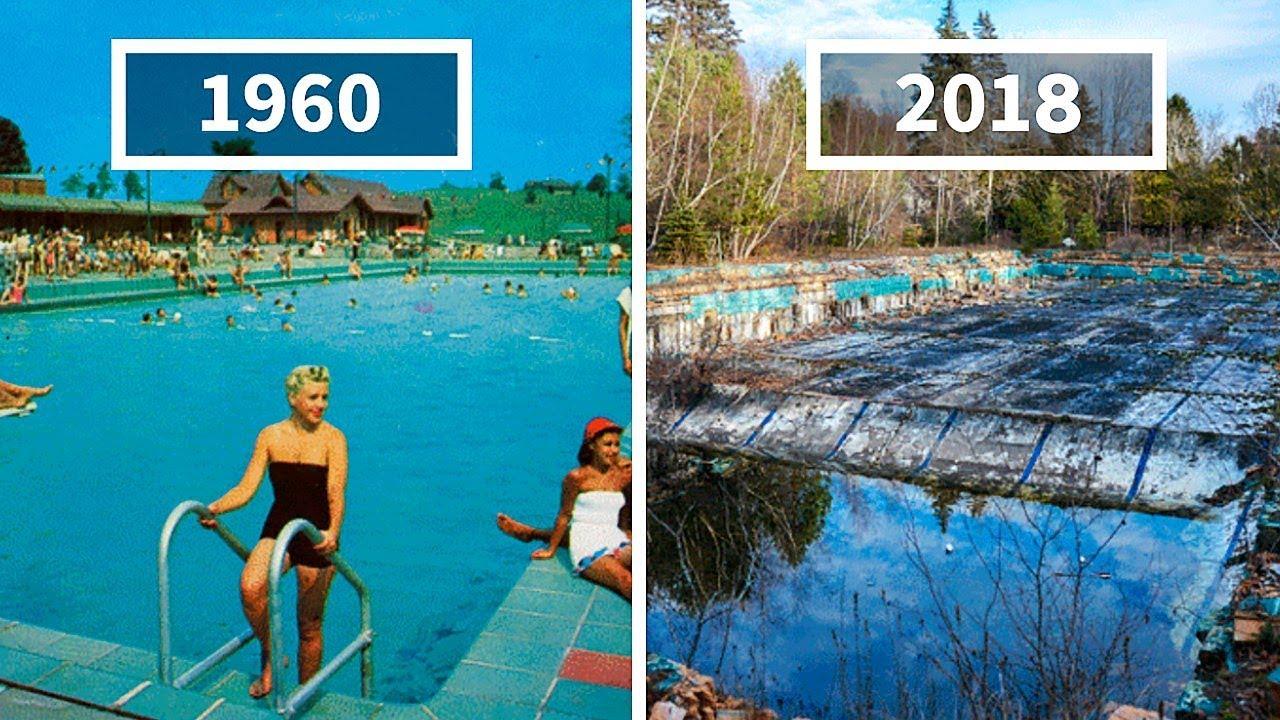 Фотограф Находит Открытки Курортов 60-ых Годов, Чтобы Сравнить с Тем, как Они Выглядят Сейчас