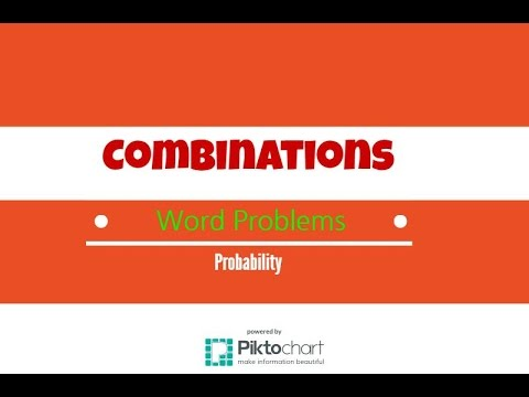 How to solve word problems involving combinations