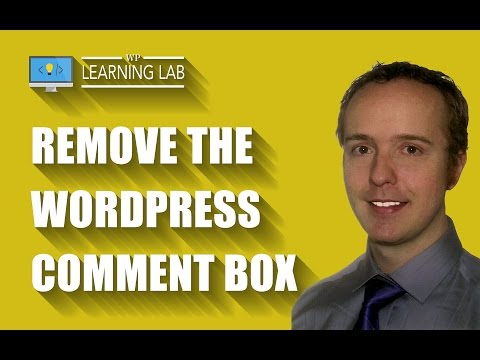 3 Ways To Remove The WordPress Comment Box | WP Learning Lab