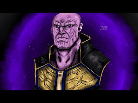 THANOS |SPEED PAINT | AVENGERS INFINITY WAR | DIGITAL ART | SinghSketches |
