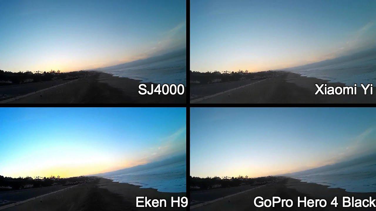 Sj4000 Vs Xiaomi Yi Vs Eken H9 Vs Gopro Hero 4 Black Youtube