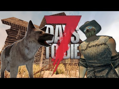 NEW FAMILY MEMBER | 7 Days to Die Starvation Mod Alpha 16 Ep 1 | Taming a dog - Solo Survival