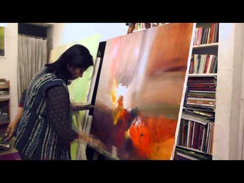 Famous Indian Artist Neena Singh, At Work!