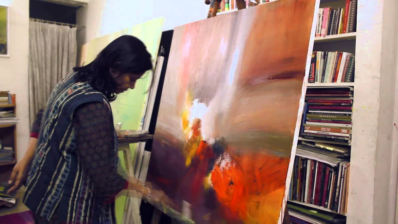 Famous Indian Artist Neena Singh At Work